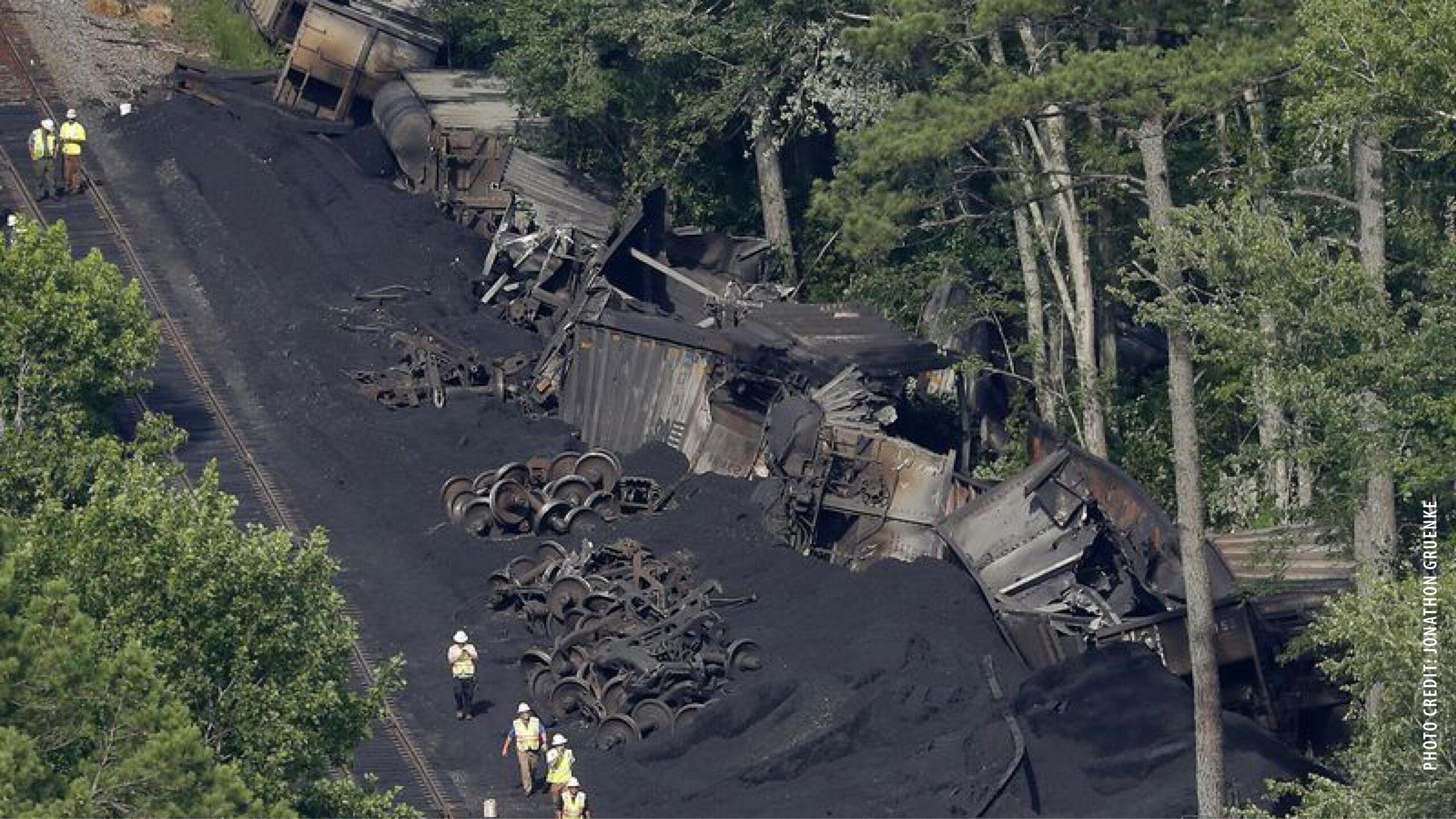 Coal Train Derailed